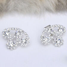 Rhinestone Crystal Hook And Eye Clasp Bling Sew On Bow Button Costume Chic Decor