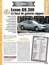 FICHE RENSEIGNEMENT TECHNIQUE AUTO LEXUS GS 300 1993 VÉHICULE COLLECTION