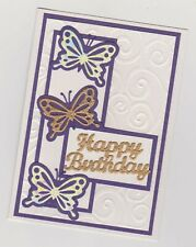 Blank Handmade Greeting Card ~  HAPPY BIRTHDAY with BUTTERFLIES