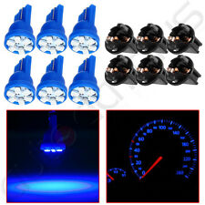 6X T10 194 168 Blue 6-3528-SMD LED Dashboard Panel Gauge Lights Bulb w/ Sockets