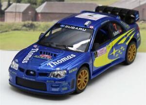 PERSONALISED NAME Blue Rally Subaru Boys Dad Toy Model Car Birthday Present New