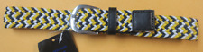 Childrens Toddler Multi Color Tweed Belt Yellow, Black, White Size 6-7 Years