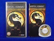 psp MORTAL KOMBAT UNCHAINED Arcade Fighting Game PAL UK Version REGION FREE