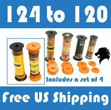 124 to 120 Film Spool Adapter Set/Kit (4pcs) For Antique Vintage Cameras Folding