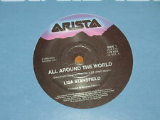 "LISA STANSFIELD *RARE 7"" 45 ' ALL AROUND THE WORLD ' 1989 VGC+"
