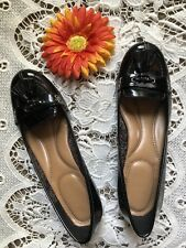 Women's Mootsies  Tootsie Black Patent Leather Loafers Sz 8.5