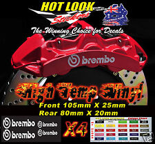 HOLDEN HSV BREMBO BRAKE CALIPER DECAL KIT - Suit Commodore SS SSV SV6 V8