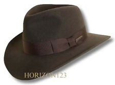 PACKABLE Indiana Jones Fedora-RAIN REPELLENT Soft Wool Hat-Brown-XL