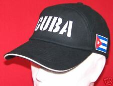 CUBA: Casquette CUBAINE coton brossé, DRAPEAU CUBAIN