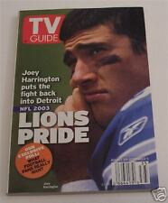 JOEY HARRINGTON Detroit Lions TV GUIDE Magazine NL