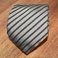 Canali Vintage Silk-blend Tie with Chenille stripes (Made in Italy)