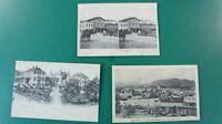 3 Postkarten Ansichtskarten Foto Eisenbahn Bahnhof Antik aus Sammlung K-1029
