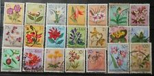 BELGIUM - FLOWERS BELGIAN CONGO 1952 53 SC : 323 - 340 USED