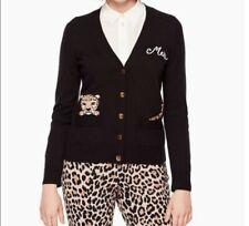 Kate Spade V Neck Cat Cardigan Wool Blend XS Sweater