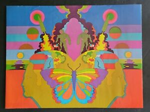 """c1970's BURGER KING """"SPACE"""" Psychedelic Book Cover """"school daze"""" ☆ PETER MAX?"""