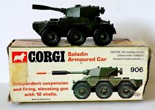Corgi Toys No.906. Saladin Armoured Car (1974). Working Mechanism/Tatty Box.