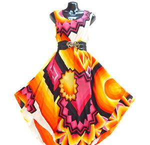 Summer Beach Viscose Tunic Sundress Kaftan Sarong Umbrella Dress Sleeveless Top