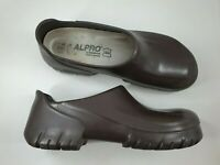Alpro Birkenstock size 12 (45) brown rubber cork sole work clogs