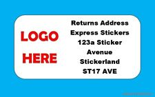 Personalised Mini Address/Returns labels. A4 sheet,Pre-printed Stickers