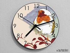 Sparrow Watercolor Wall Clock - Kids Nursery Room,Teens Room - Wall Clock