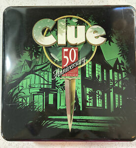 50th Anniversary Limited Edition Clue Game Collectible Tin 1998 Parker Brothers