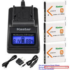 Kastar Battery LCD Fast Charger for Sony NP-BN1 NPBN1 & Sony Cyber-shot DSC-W630