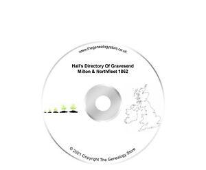 Hall's Directory Of Gravesend Milton & Northfleet 1862 Like Kelly's