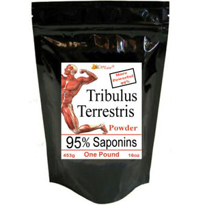 Tribulus Terrestris Powder Testosterone 95% Saponins 16oz LB Make 566 Caps 800mg