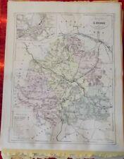 Old Map 1900 France Département l'Indre Châteauroux Vatan Levroux St Christophe