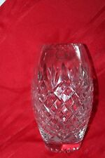 Hand Cut Curved 24% Lead Crystal Vase Made in Hungary