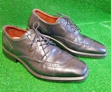 Mens Leather Brogues Smart Formal Casual Lace Up Oxford Brogue Shoes size 10 uk