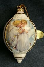 Bradford Edition Heirloom Porcelain Angel Of Innocence Kiss Ornament 2001