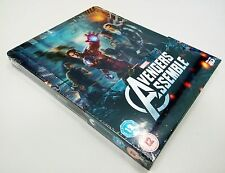 AVENGERS LENTICULAR ZAVVI STEELBOOK UK BLU RAY MARVEL NEW SEALED VENGADORES