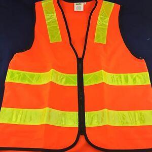 HI-VIS Zip Safety Vest SML  Day & Night   Surveying   Construction   Industrial