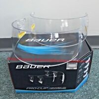 Bauer Pro-Clip Straight Hockey Helmet Visor Replacement 2-Pack! Clear Two Visors