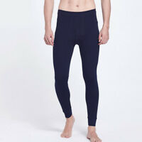 Men Thermal Underwear Pants Winter Warm Cotton Blend Long Leggings Bottoms Pants