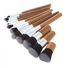 11 pcs Bamboo Makeup Brush Cosmetic set