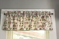 1 WINDOW Straight VALANCE 100% Cotton FLORAL w/ Plaid Trim