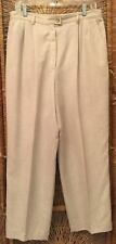 Pendelton Womens Dress Pants Sz 16 Beige Straight Leg Zipper Front Fully Lined