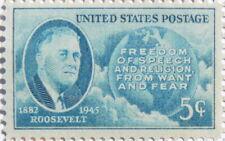 1945 Roosevelt 5 Cent US Postage Stamp