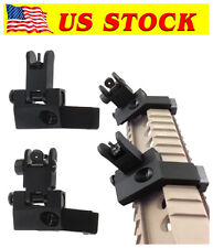 Front and Rear Flip Up 45 Degree Offset Rapid  Backup Iron Sight Transition US