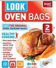 Look Oven Bags Giant Size 5-10Kg Pack Of 2 Cooking Roasting Microwave Freezer