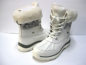 UGG ADIRONDACK III WOMEN WINTER BOOTS LEATHER SNAKE WHITE US 10 / UK 8.5 /EU 41