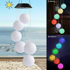Led Ball Color Changing Solar Wind Chimes Lights Home Garden Decor Free Shipping