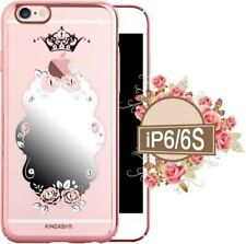 KINGXBAR Authorized Swarovski Crystal Plated Rose Cover Case for iPhone 6 & 6S