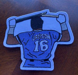 RARE Bo Jackson #16 KC Royals Big Large 5in. Iron / Sew On Embroidered Patch