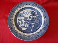 """Johnson Brothers Blue Willow (4) Dinner Plates 10"""" across top Made in England"""