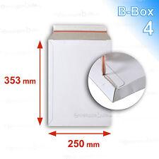 50 Enveloppes carton rigide 250x353 B-Box 4 BLANCHES