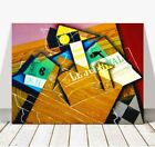 "JUAN GRIS Art - Table Top CANVAS PRINT 12x8"" - Cubist, Cubism, Abstract"