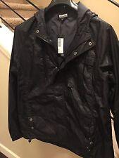NWT  $118 Brooklyn Industries Packable Rain Jacket - Black Large - Packa